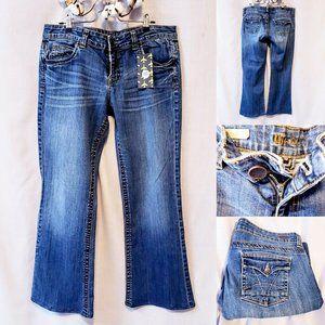 KUT Natalie wide leg bootcut jeans size 10🍒